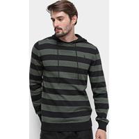 Blusa Tricot Aleatory Listrada Capuz Masculina - Masculino