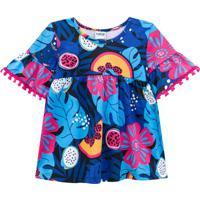 Blusa Infantil Feminina Azul