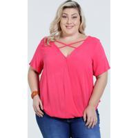 Blusa Feminina Transpassada Tiras Plus Size Marisa