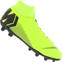 Chuteira De Campo Nike Mercurial Superfly 6 Club Mg - Adulto - Amarelo Fluor