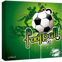 Quadro Impressão Digital Futebol Verde 30X30Cm Uniart