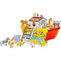 Brinquedo Religioso Arca De Noé Carlu Mdf 35 Peças