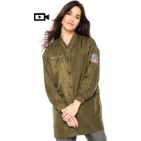 Jaqueta Bomber Anany Patches Verde
