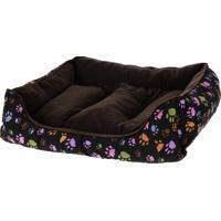 Cama Pet Retangular Para Cachorros E Gatos Marrom 80Cm X 60Cm - Meu Pet
