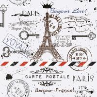 Papel De Parede Adesivo Cartão Postal Paris (0,58M X 2,50M)