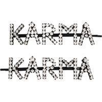 Ashley Williams Acessório Para Cabelo Karma Com Aplicações - Preto
