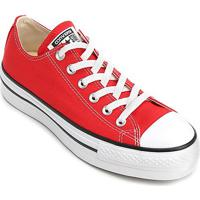 Tênis Converse Chuck Taylor All Star Platform Ox - Feminino-Vermelho