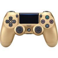 Controle Sem Fio Sony Dualshock 4 Para Playstation 4 Com Led Gold V2