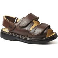 Sandália Couro 301 Floater Doctor Shoes Masculina - Masculino-Café