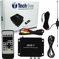 Receptor Tv Digital Automotivo Para Dvd Tech One Com Antena E Controle