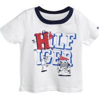 Camiseta Tommy Hilfiger Kids Menino Escrita Branca