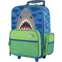 Mala Com Rodinha Tubarão Azul Stephen Joseph