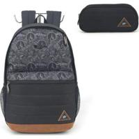 Mochila Escolar Hot Wheels Para Notebook E Estojo - Masculino