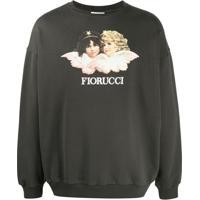 Fiorucci Vintage Angels Printed Sweatshirt - Cinza