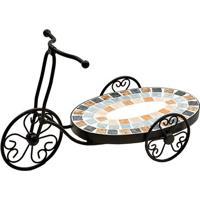 Floreira Bicicleta- Preta & Azul Claro- 26X44X19Cmbtc Decor