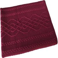 Manta Tricot Decorativa Cama Sofだ120Cm X 150Cm Cod 1026.5 Marsala - Estampado - Feminino - Dafiti