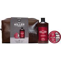 Kit Killer Necessaire Sh + Pomada Qbs - Feminino-Incolor