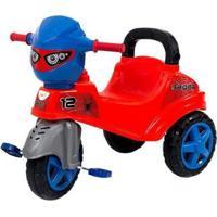 Triciclo Infantil Baby City Spider Com Empurrador - Unissex-Laranja