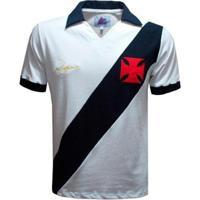 Camisa Liga Retrô Vasco Dinamite 1971 Masculina - Masculino-Branco