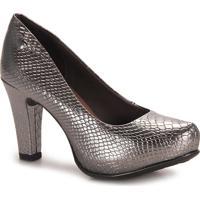 Sapato Salto Feminino Dakota - Prata Velho