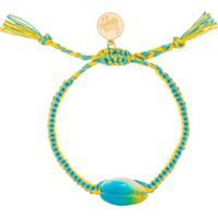 Venessa Arizaga Pulseira Com Conchas Tie-Dye - Azul