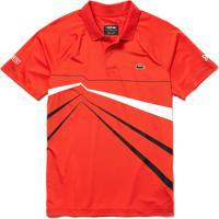 Polo Lacoste Sport Regular Fit Vermelho