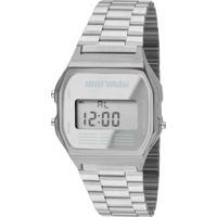 Relógio Mormaii Digital Maui Mojh02Aa3C Prata
