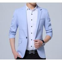 Blazer Masculino Sólido Design Slim - Azul Claro