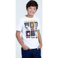 Camiseta Juvenil Estampa Super Heróis Marvel