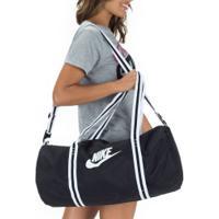 Mala Nike Heritage Duff - Feminina - 30 Litros - Preto/Branco
