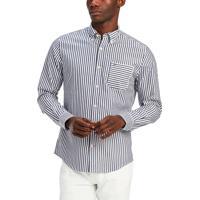 Camisa Tommy Hilfiger Masculina Classic Fit Trey Stripe Azul Marinho