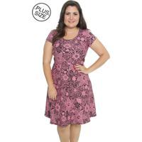 Vestido Estilo Fino Moda Plus Size Darling Rosa