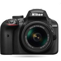 Câmera Nikon D3400 Com Lente Af-P Dx 18-55Mm Vr Preto