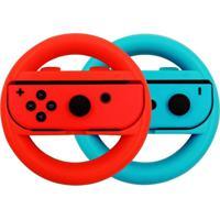 Par De Volantes Skin T18 Para Nintendo Switch Azul/Vermelho
