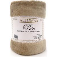 Manta Microfibra Flannel Casal Pisa 1,80X2,20 - Altomax - Bege