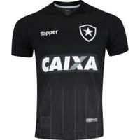 Camisa Do Botafogo Ii 2018 Topper - Masculina - Preto/Cinza Esc