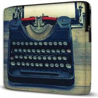 Capa Para Notebook Isoprene Máquina Escrever 15 Polegadas Com Bolso - Unissex-Azul