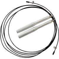 Corda De Pular Pro Speedy- Preta & Prateada- 300Cm