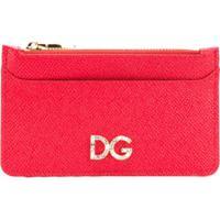 Dolce & Gabbana Porta-Cartões De Couro Com Logo - Vermelho