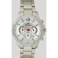 Relógio Cronógrafo Philiph London Masculino - Pl80032623M Prateado - Único