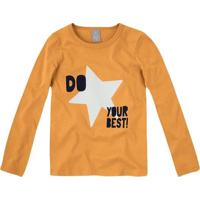 "Blusa ""Do Your Best!""- Amarela & Pretahering"