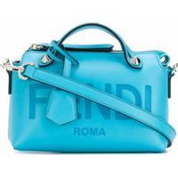 Fendi Bolsa Transversal Com Logo - Azul