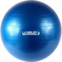 Bola Suiça Para Pilates 55Cm Azul Liveup Premium - Unissex