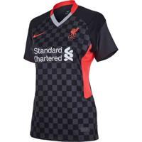 Camiseta Feminina Nike Liverpool Iii 2020/21 Torcedora Pro