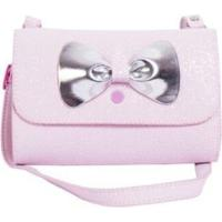 Bolsa Infantil Princesa Pink Rocambole Gliter Rosa