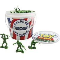 Balde Com 60 Soldadinhos Toyng Toy Story Plástico Verde