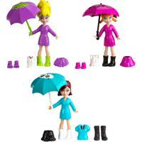 Boneca Polly Pocket - Estações Da Polly - Diversão Na Chuva - Mattel - Feminino-Incolor