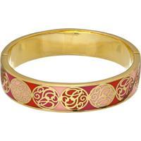 Bracelete Com Recortes- Dourado & Vermelho- 16Cmguess