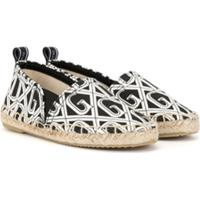 Dolce & Gabbana Kids Espadrille Com Estampa Dg - Preto