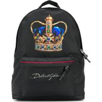 Dolce & Gabbana Kids Mochila Com Estampa De Coroa - Preto